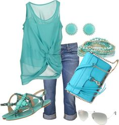 Womens outfits cute summer outfits for teens, spring outfits, turquoise outfits, outfits 2014 Mode Outfits, Casual Outfits, Fashion Outfits, Womens Fashion, Fashion Trends, Outfits 2014, Fashion Ideas, Fashionable Outfits, Stylish Clothes