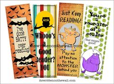 free bookmark printables
