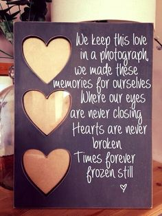 Ed sheeran photograph Chunky heart picture frame personalise distressed Handpainted wedding gift couple love ed sheeran song lyrics  by Handmadebyswans on Etsy