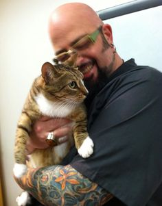Our Catster furrrend from San Francisco, Guido Basolo with Jackson Galaxy