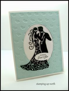 stamping up north,tattered lace, wedding card