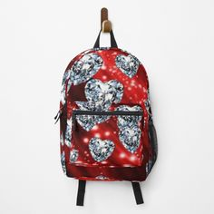 Diamond Heart, Fashion Backpack, Clutches, Traveling By Yourself, Hearts, Sparkle, Backpacks, Printed, Awesome