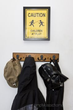 Boy's Industrial/Star Wars Bedroom decor ideas.