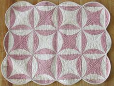 Primitive 1850s Early Aantique Doll Quilt from Larger Quilt   Vintageblessings
