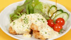 Chicken Nanban Recipe チキン南蛮 作り方 レシピ This one looks delicious, plus it doesn't have any ingredients that are hard to find in a rural Midwestern town! Chicken Dips, Fried Chicken, Chicken Recipes, Sauce Recipes, Cooking Recipes, Sauce Tartare, Tartar Sauce, Soy Sauce, Savarin