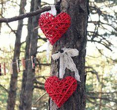 Decoração de casamento com coração [Foto]