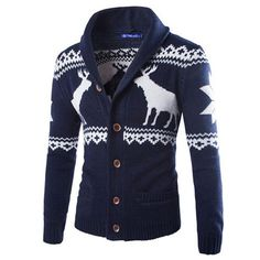 Gender: Men Collar: V-Neck Sleeve Length: Full Pattern Type: Print Sleeve Style: Regular Material: Polyester Closure Type: Single Breasted Thickness: Standard Item Type: Cardigans Estimated Delivery T