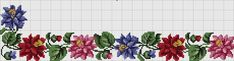 Gallery.ru / Фото #39 - Бордюры и орнаменты - pustelga Cross Stitch Borders, Cross Stitch Rose, Cross Stitch Patterns, Cross Stitch Needles, Craft Accessories, Needlework, Pattern Design, Diy And Crafts, Projects To Try