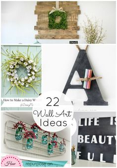 22 DIY Wall Art Projects!  - Tatertots and Jello #DIY