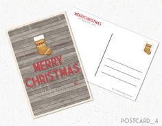 Cartolina Natalizia Printable Christmas di FreshGraphicDesign #Christmas #Postcard #Etsy #Printable #Holiday #MerryChristmas #BuonNatale