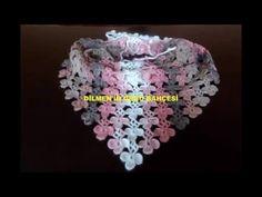Como tejer una Bufanda calada en tejido crochet - YouTube