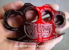 Constantine Brass Knuckles, Red to Black Gradient