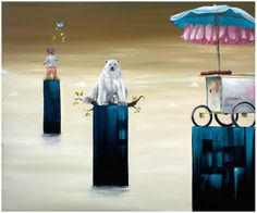 """Lezzueck Asturias's #artwork """"The Three Isles"""".  For #sale #art #surrealism"""