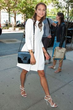 Alicia Vikander wore a Chloe dress with a Louis Vuitton bag and Jimmy Choo heels.