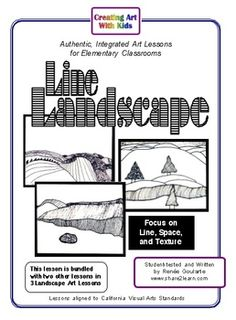 Line Landscape - a math-related art lesson using line, pattern, texture, and negative space