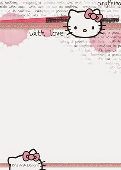 Rina Loves: Freebies Hello Kitty Backgrounds, Hello Kitty Wallpaper, Free Printable Stationery, Free Printables, Planner Writing, Envelopes, Hello Kitty Pictures, Hello Kitty Birthday, Kawaii Stickers
