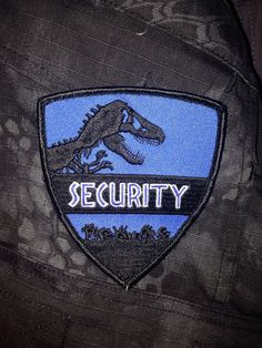 Jurrasic World Security Embroidered Patch with Velcro 4x3.5 inches