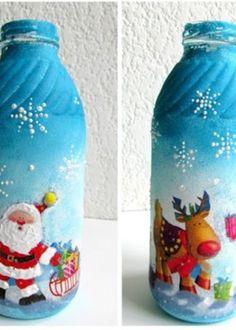 M s de 1000 ideas sobre botellas decoradas para navidad en - Como hacer motivos navidenos ...