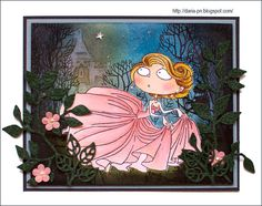 Cinderella. Kraftin Kimmie. Copics and Distress inks. By Daria Pneva.