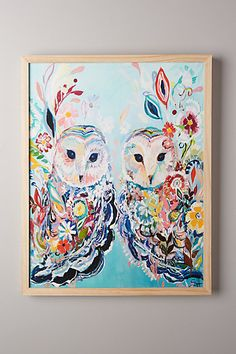 beautiful!  Mooreland Wall Art, Twin Owls - anthropologie.eu