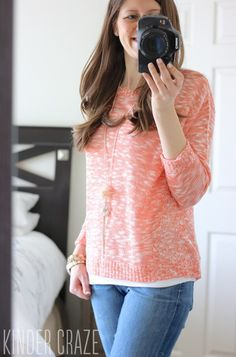 Love the color of this sweater