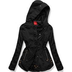 Dámská jarní/podzimní bunda Mia černá AKCE – černá Oblékněte se do kvalitní, nepromokavé bundy v tomto trendy looku! Bunda Mia se zapíná na zip a lze ještě upevnit pomocí knoflíků. Obvod pasu lze modifikovat pomocí …