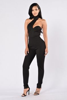- Available in Black and Olive - Mock Neck - Strap Detail on Front - Back Zipper - Skinny Leg - Ponte Fabric - 60% Cotton, 33% Nylon, 7% Spandex