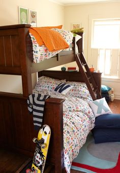 Little brother - big brother shared bedroom.