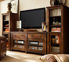 Benchwright Media Suite with Towers   Pottery Barn