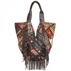 Antik Batik – Cabas Bestickte Umhängetasche