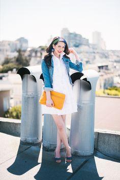 Kate Spade White Tobin Dress via Pink Pumps + Pasta