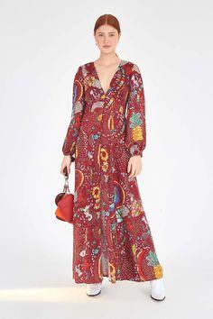 BURGUNDY BOROGODO MAXI DRESS – Farm Rio Dot Dress, Ruffle Dress, Striped Dress, Beloved Clothing, Dream Dress, Cotton Linen, Short Dresses, Burgundy, Dresses With Sleeves