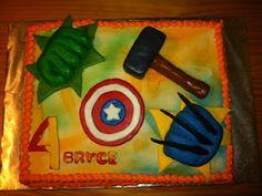 Avengers cake, @Kerri Thompson we need to make this for Jeremiahs birthday