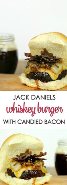 Jack Daniel's Whiskey Burger - this burger recipe is over the top with bacon and a killer Jack Daniels whiskey sauce