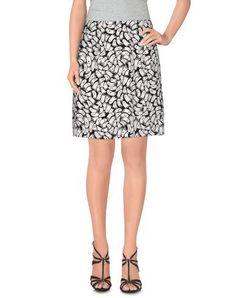 PETER JENSEN Women's Knee length skirt Black XS INT