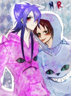 Mordecai and Rigby from Regular Show gijinka versión :3 I love their jackets cat *O* , I told a friend who would do this picture because we bought these jackets yesterday (?) X'DD... Amo los polero...