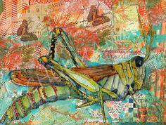 Grasshopper Art Bug Art children insect 11x14 by SchulmanArts, $139.00