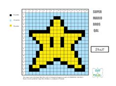 Miniatyrbilde av et Disk-element Mario Crochet, Graph Crochet, Super Mario Brothers, Super Mario Bros, Alpha Patterns, Star Patterns, Mario Star, Tiny Cross Stitch, Super Mario Party