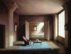 interieur au tapis bleu - Marc Chalmé