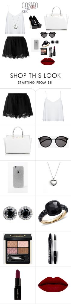 """Out and about"" by manarnassan on Polyvore featuring Twin-Set, Alice + Olivia, Michael Kors, Yves Saint Laurent, LA: Hearts, Pandora, Pomellato, Gucci, Lancôme and Smashbox"