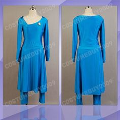 Star Trek Deanna Troi Halloween Party Dress Ball Gown Uniform Cosplay Costume Bl #Suit