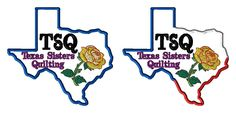 TSQ - Texas Sisters Quilting Logo - custom design for LJ by LLHembroidery on Etsy