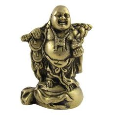 Amazon.com: Laughing Buddha Religious Statue Brass Figurines: Home & Kitchen