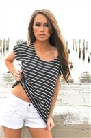 trendy black hi low off shoulders top, sexy striped casual tops in hi low top, easy day wear striped off shoulders tops that are over sized tops, 80's style tops that can be 80's style tops, festival tops to party in tops, classy 80's tops that are slouch