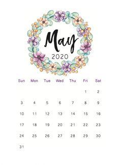 Floral May 2020 Cute Calendar - Free Printable Calendar Templates Calendar May, Cute Calendar, School Calendar, Print Calendar, Calendar Ideas, Free Printable Calendar Templates, Monthly Calendar Template, Free Printables, February Wallpaper