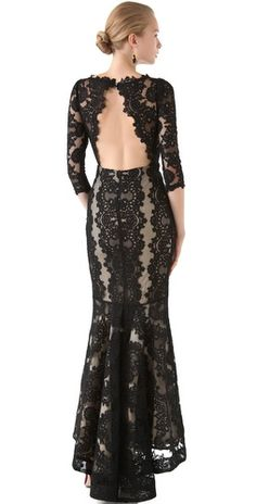 Lace gown by Alice + Olivia #ladylike