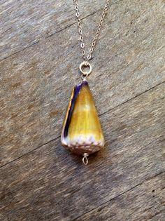 Purple Green Cone Pendant,Silver Cone Shell Pendant,Hawaiian Cone Shell Pendant,Sterling Silver Seashell Jewelry,Handmade Hawaiian Jewelry on Etsy, $13.00