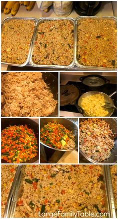 Chicken Fried Rice Freezer Meal   Large Family Recipes - Large Family Table