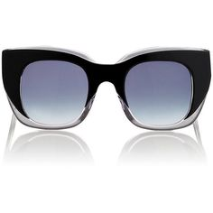 Thierry Lasry Women's Intimacy Sunglasses ($289) ❤ liked on Polyvore featuring accessories, eyewear, sunglasses, no color, clear glasses, oversized square sunglasses, thierry lasry sunglasses, clear eyewear and square sunglasses