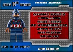 Captain America Birthday Invitations | Kustom Kreations Superhero Birthday Invitations, Diaper Invitations, Invitation Card Birthday, Baby Shower Invitation Templates, Invitation Cards, Captain America Birthday, Kustom, Diaper Party Invitations